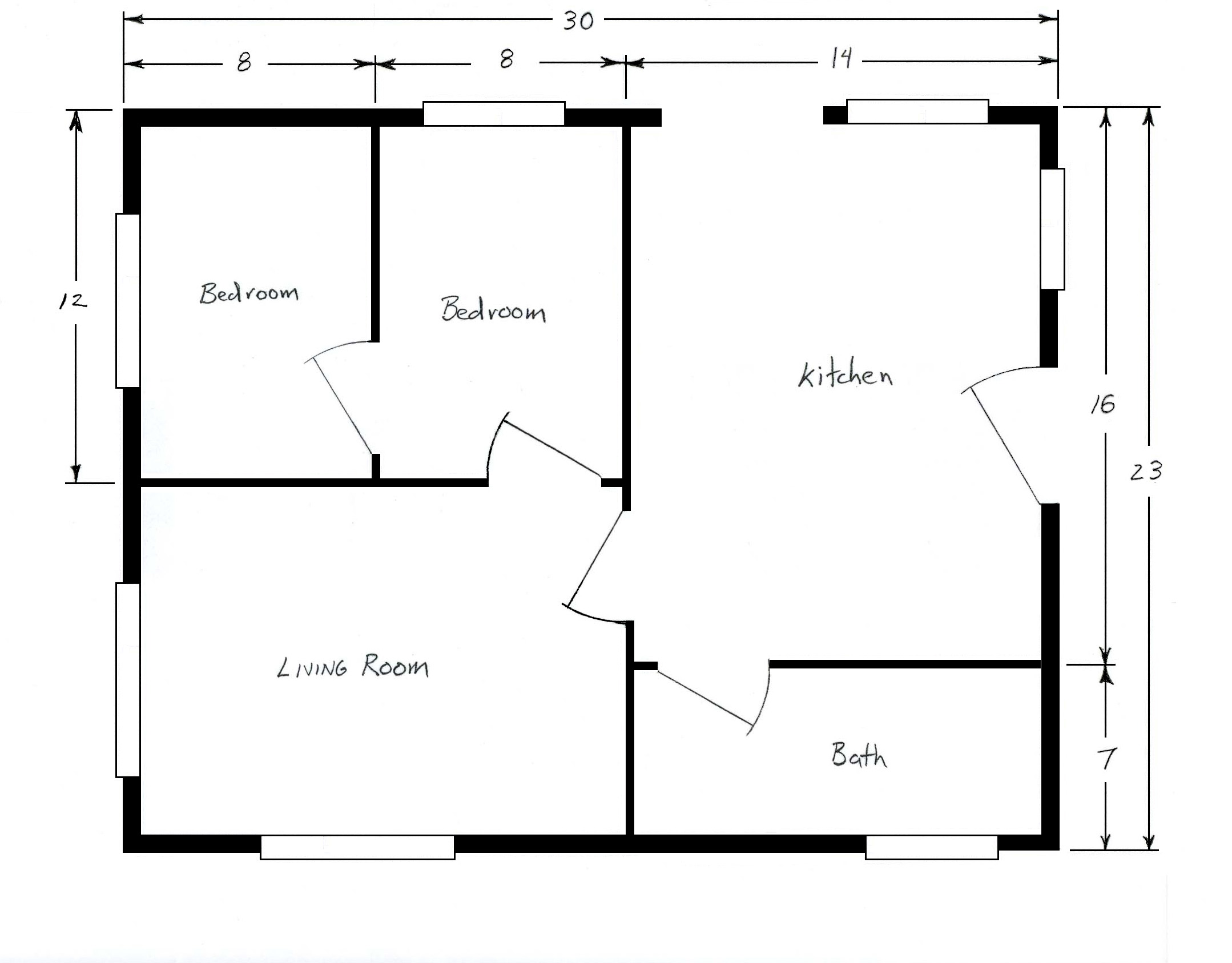 Free home plans sample house floor plans for Room design layout templates