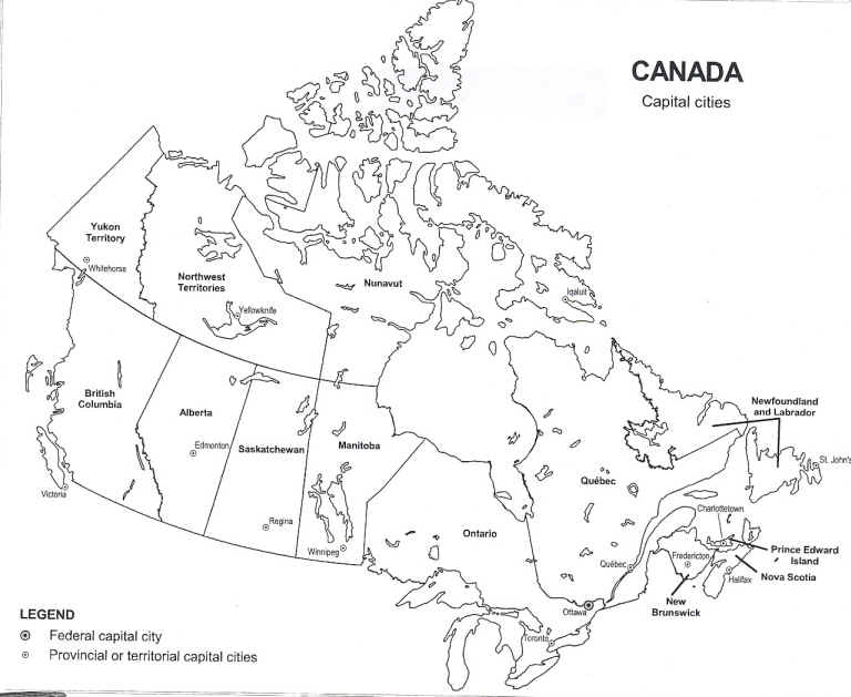 Canada Provinces and Capital Cities – Map of Canada with Capital Cities